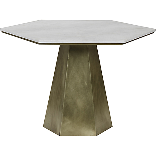 Demetria Antique Brass Table