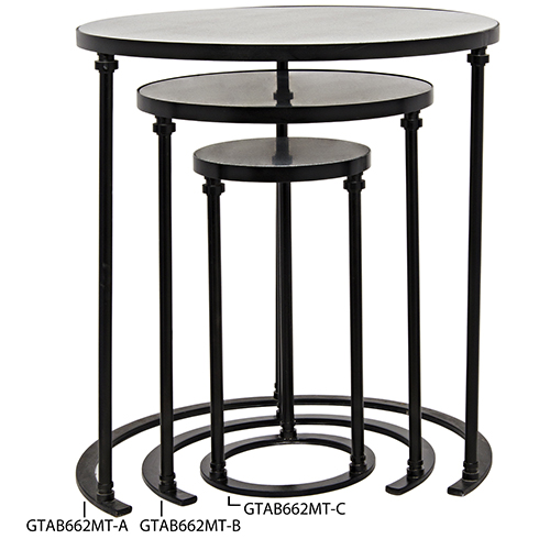 Molly Metal and Stone 19-Inch Side Table