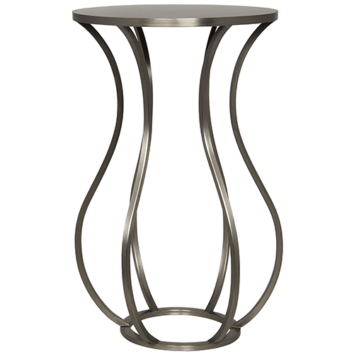 Marie Antique Silver Side Table
