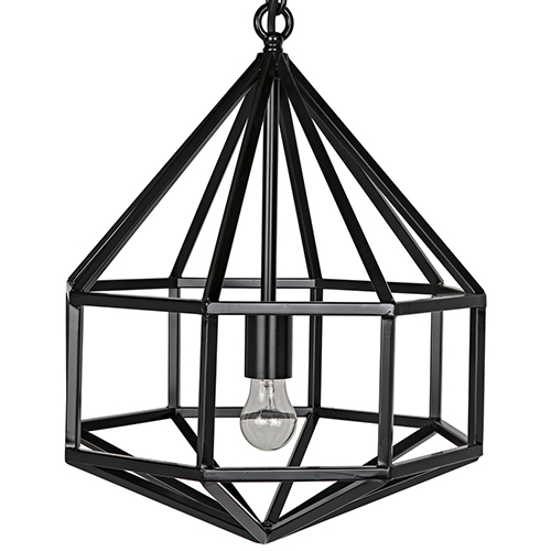 Noir Diamond Metal One-Light Pendant B