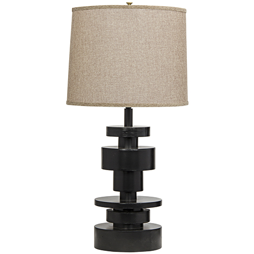 Wilton Black Metal Table Lamp With Shade