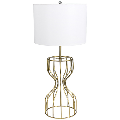 Perry Antique Brass Table Lamp