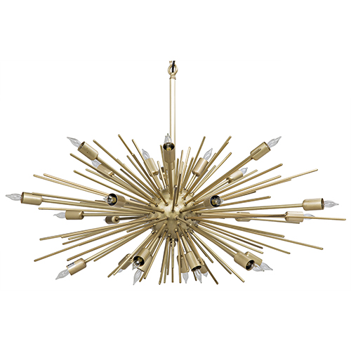 Noir Loleil Antique Brass 27-Light Chandelier