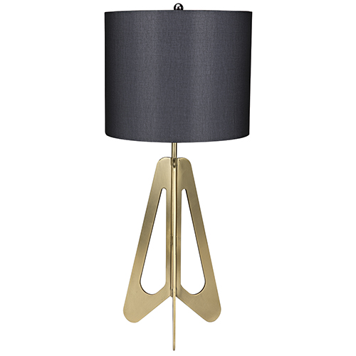 Candis Antique Brass Table Lamp with White Shade