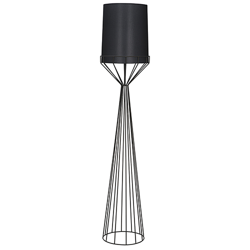 Portal Black 76-Inch One-Light Floor Lamp