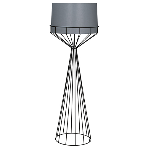 Portal Black 60-Inch One-Light Floor Lamp