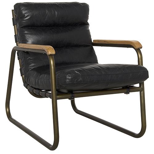 Noir Cowhide Arm Chair