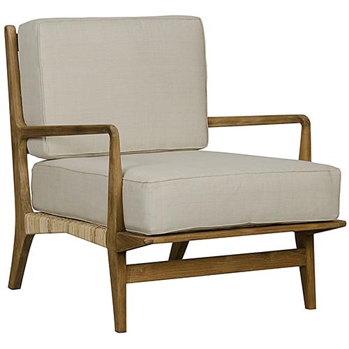 Allister Teak and Rattan Chair