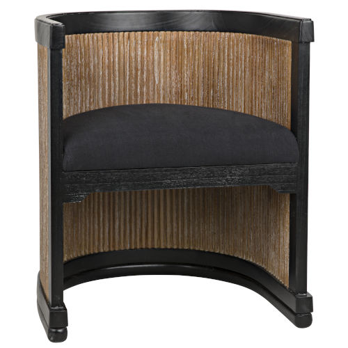 Carly Grey Wash and Hand Rubbed Black 25-Inch Chair