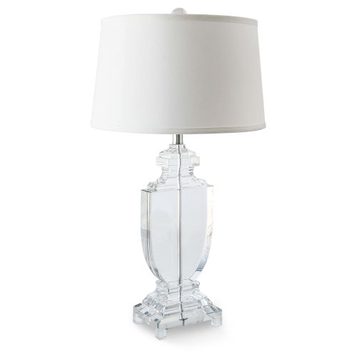 Transparent One-Light 16-Inch Table Lamp With Crystal