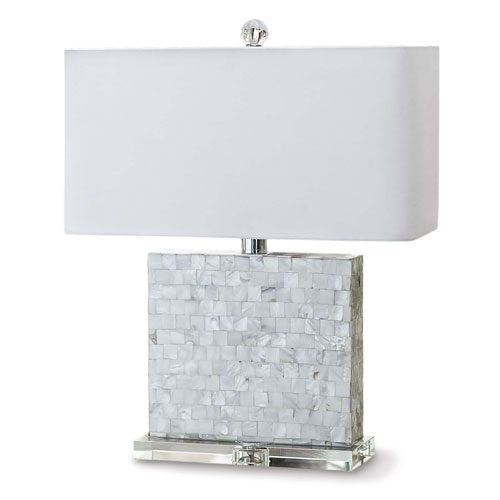 Modern Glamour Natural Two-Light Table Lamp