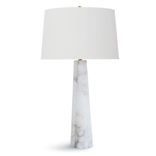 Quatrefoil White One-Light 18-Inch Table Lamp