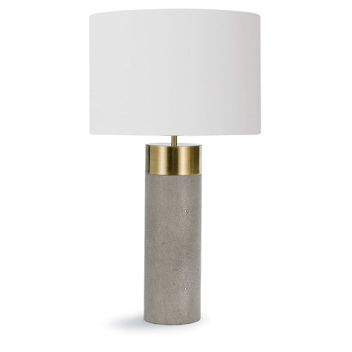 Classics Brass and Ivory Grey One-Light Table Lamp