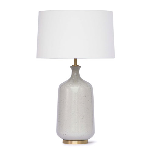 Classics Natural Brass and White One-Light Table Lamp