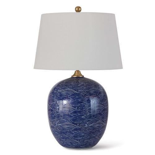 Harbor Blue One-Light Table Lamp