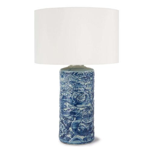 Zodiac Blue One-Light Table Lamp