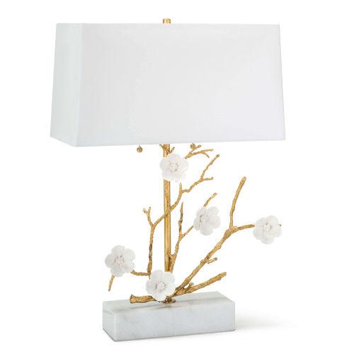 Cherise Gold Two-Light Horizontal Table Lamp