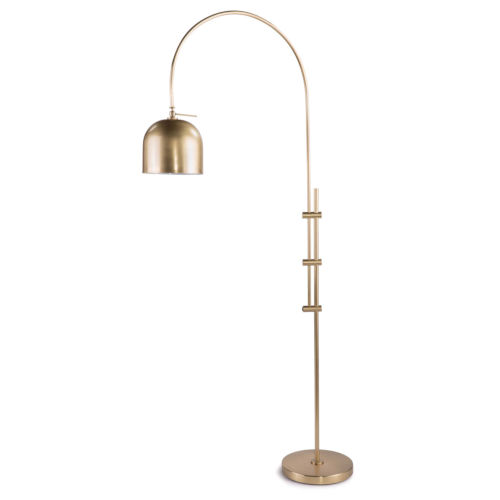 Natural Brass One-Light Floor Lamp