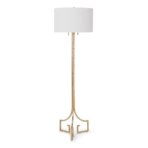 Le Chic Gold Leaf Two-Light Floor Lamp