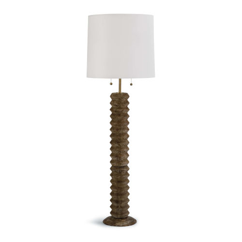 Accordion Natural Two-Light Floor Lamp