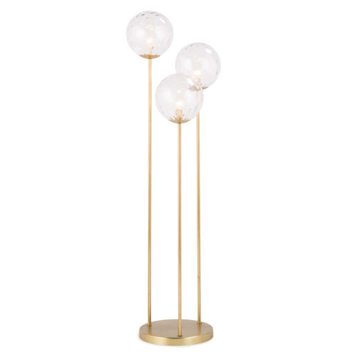 Classics Natural Brass Three-Light Floor Lamp
