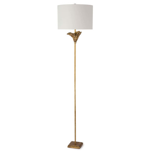 Monet Antique Gold Leaf One-Light Floor Lamp