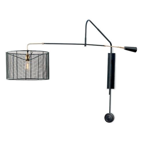 Boom Black One-Light Swing Arm Wall lamp