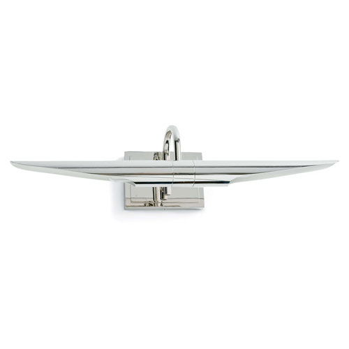 Modern Glamour Polished Nickel 22-Inch Two-Light Wall Sconce