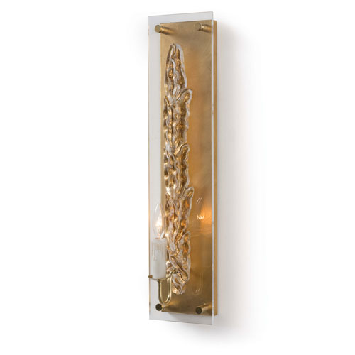 New South Antique Gold Leaf One-Light Wall Sconce