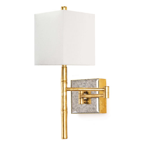 Sarina Gold Leaf One-Light Swing Arm Sconce