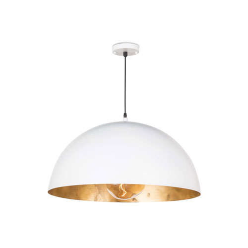 Classics Gold Leaf and White 23-Inch One-Light Pendant