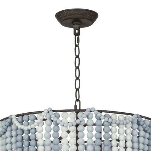 LA Modern Blue Three-Light Pendant