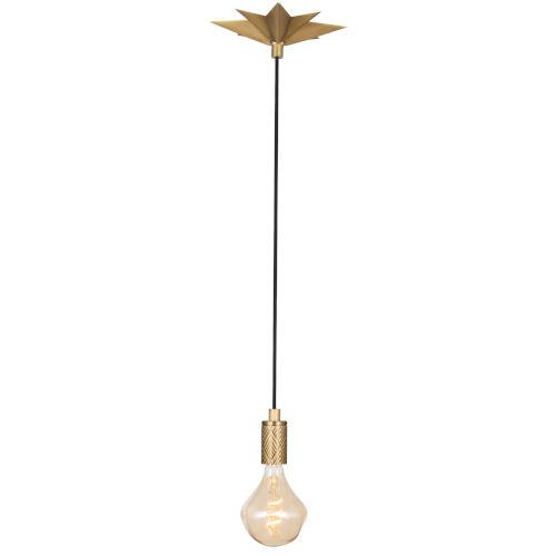 Hudson Natural Brass One-Light Mini Pendant