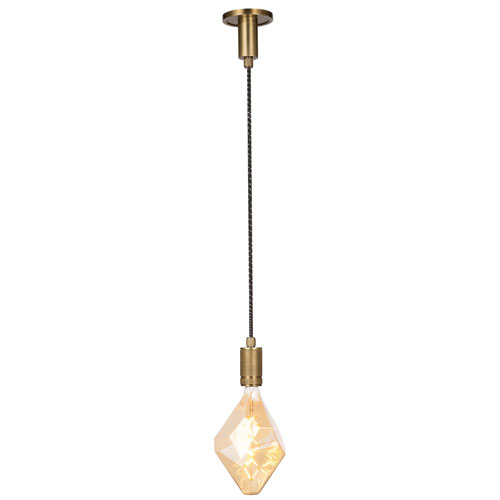 Live From Detroit Natural Brass Two-Inch One-Light Mini-Pendant