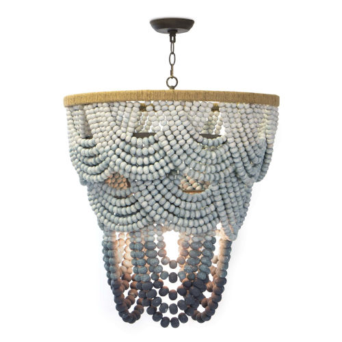 Ombre Blue Eight-Light Chandelier