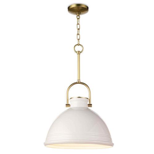 Eloise White One-Light Pendant