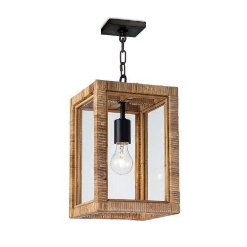 Newport Natural One-Light Lantern Mini Pendant