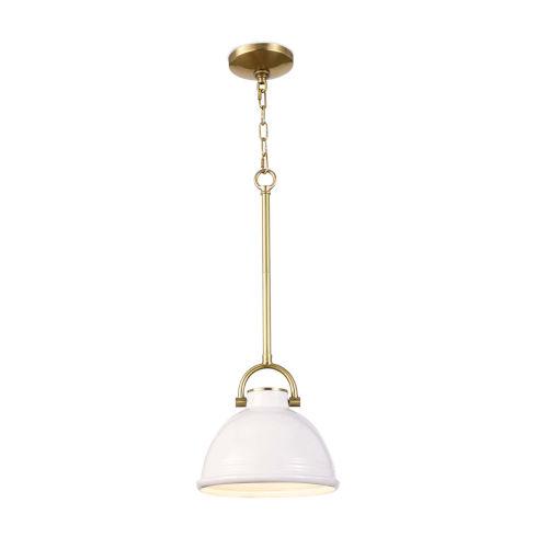 Eloise White One-Light Mini Pendant