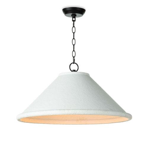 Billie White Three-Light 25-Inch Pendant