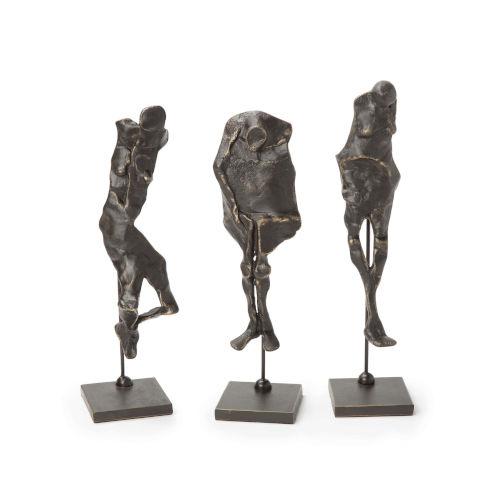 Bronze Hidden Figurine, Set of 3