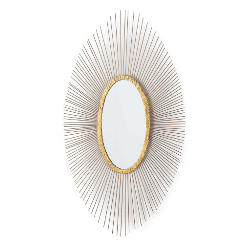 Sedona Antique Gold Leaf Oval Wall Mirror