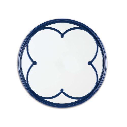Lula Blue Quatrefoil Mirror