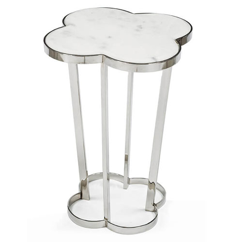 Modern Glamour Polished Nickel Accent Table