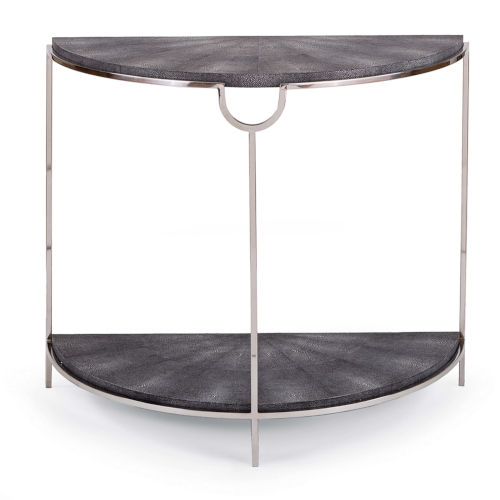 Vogue Shagreen Charcoal Console