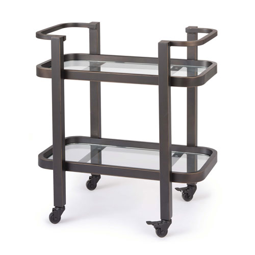 Live From Detroit Oil Rubbed Bronze Bar Cart