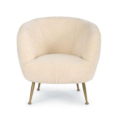 Beretta White Sheepskin Chair