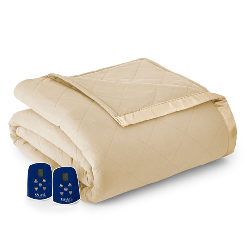 Shavel Home Products Chino Full Micro Flannel Electric Blanket