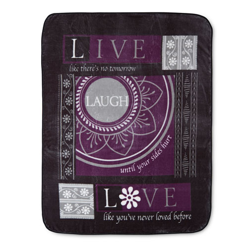 Shavel Home Products Laugh 60 x 80 In. Hi Pile Luxury Throw