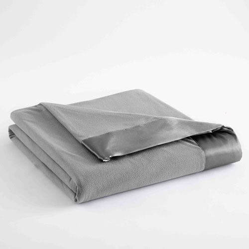 Shavel Home Products Greystone Full/Queen Micro Flannel Lightweight All Seasons Sheet Blanket