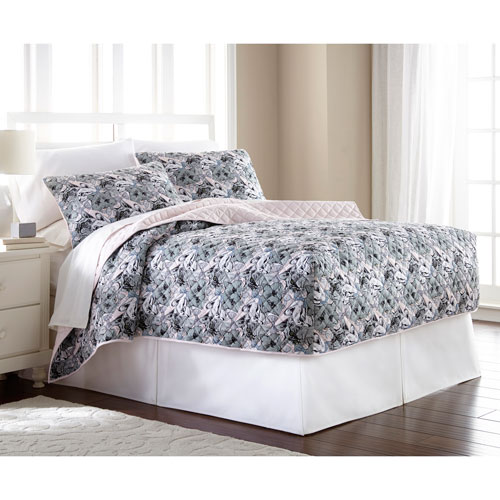 Cat Collage King Micro Flannel Fitted Mini Quilt, Set of 3